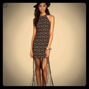 H&M Coachella Dress with fringe, S
